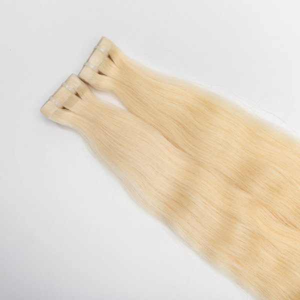 TAPE-ON EXTENSIONS GLATT  WEIß BLOND  #60 (60 cm)